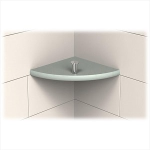 TileWare Boundless Series 6 Inch Corner Shelf With Tee Hook