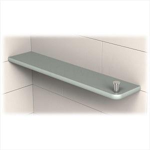 TileWare Boundless Series Rectangular Corner Shelf With Tee Hook